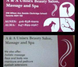 Alma de Ala  Unisex Beauty Salon/Massage and Spa
